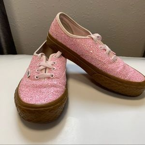 Vans glitter ice cream shoes pink size 5.5